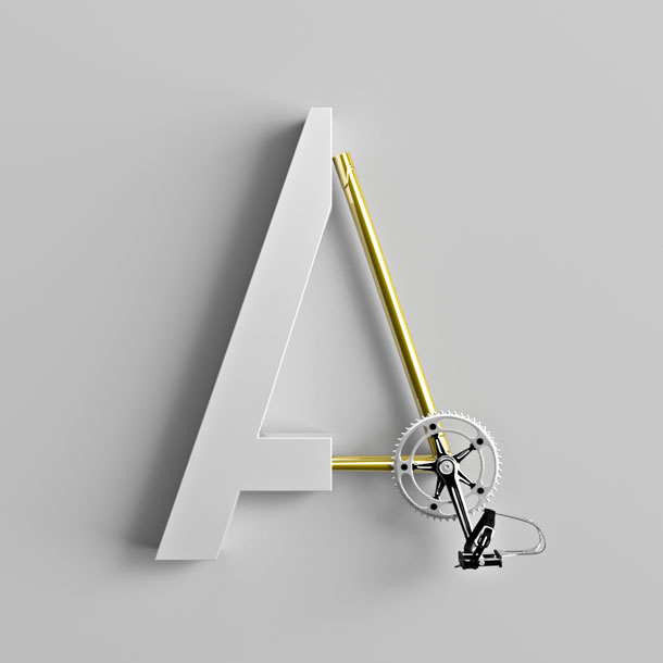 Type Cycle, tipografía en 3D